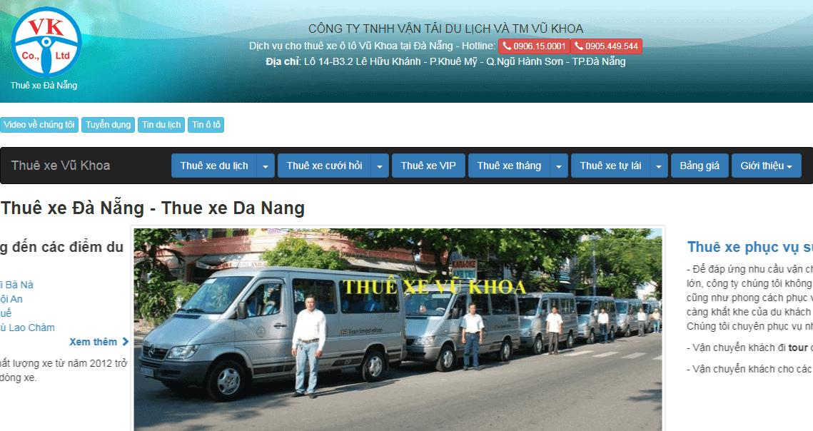 thuê xe ô tô tự lái ở đà nẵng