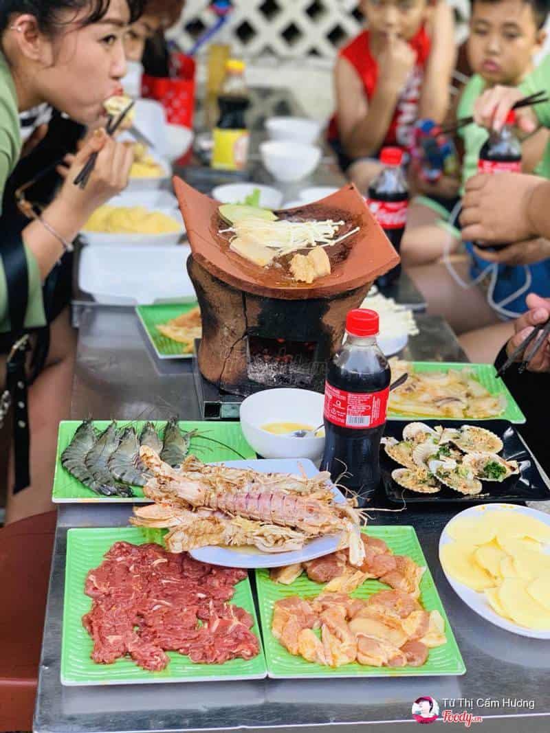 Quán nướng ngói Nha Trang ngon, rẻ