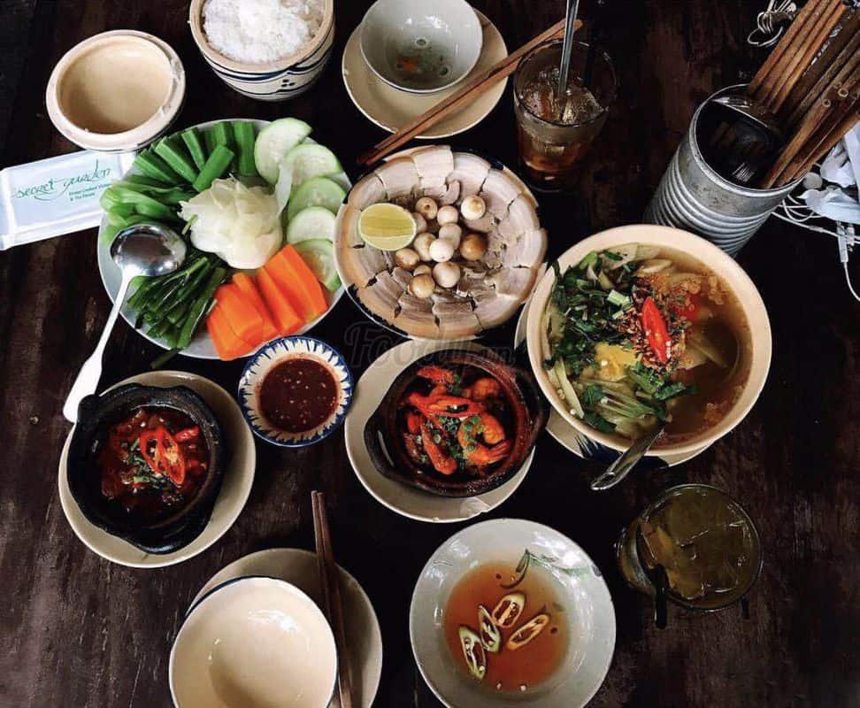 Các món ăn tại Secret Garden