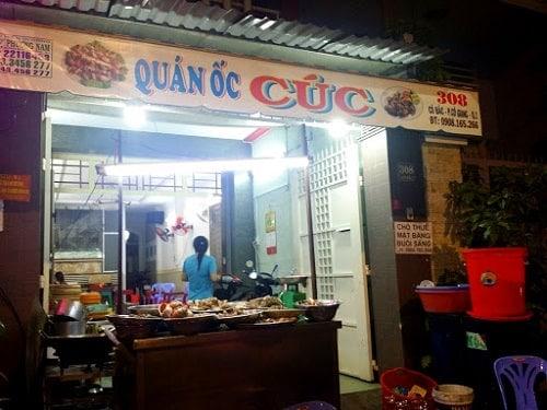 quán ốc ngon ở quận 1 Sài Gòn